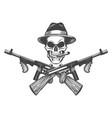 gangster skull vector image