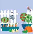 garden of vegetables vector image vector image