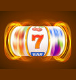 golden slot machine wins the jackpot casino vector image vector image
