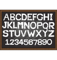 Hand drawn fonts chalkboard vector image vector image