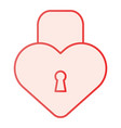 heart shape lock flat icon love padlock pink vector image vector image