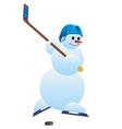 Hockey player-1 vector image