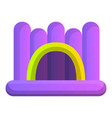 inflated jumping castle icon cartoon style vector image