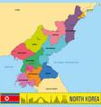 korea map vector image vector image