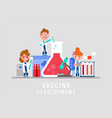 lab research development vaccine or drug vector image vector image