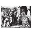 lazarus walks out his tomb when jesus raises vector image vector image