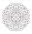 Mandala Vintage hand drawn round lace design vector image