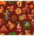 Maya Seamless Pattern vector image vector image