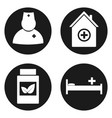 medical icons set in circle button vector image