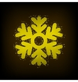 modern snowflakes background vector image vector image
