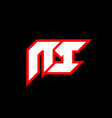 ni logo design initial ni letter design vector image vector image