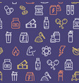 nutrition signs seamless pattern background on a vector image vector image