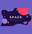 on theme outer space vector image