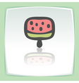 outline fruit ice cream lolly icon Modern logo and vector image vector image