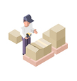 Packing Distribution Center vector image