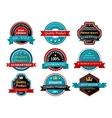 Quality guarantee retro labels collection vector image vector image