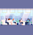 recruitment agency candidates job office vector image