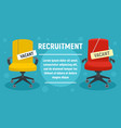 recruitment concept banner flat style vector image