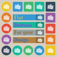 Rent icon sign Set of twenty colored flat round vector image vector image