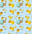 Seamless ducks vector image