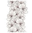 Seamless geranium flowers border vector image vector image