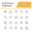 set line icons air pollution vector image vector image