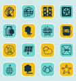 set of 16 ecology icons includes delete woods vector image vector image