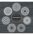 Set of 7 round decorative ornaments vector image vector image
