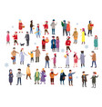 set of people wearing top winter clothes isolated vector image vector image