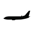 Single medium size aircraft silhouette vector image
