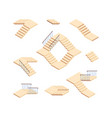 stairs isometric outdoor staircase for houses vector image