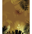 summer background with palm trees vector image vector image