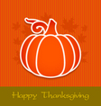 Thanksgiving day greeting card eps10 vector image