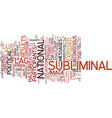 the power of subliminal messages text background vector image vector image