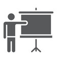 training glyph icon e learning and education vector image