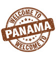 welcome to panama brown round vintage stamp vector image vector image