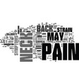 what may cause back neck pain text word cloud vector image vector image
