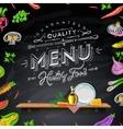 Design elements menu chalkboard vector image