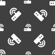 Wi fi router icon sign Seamless pattern on a gray vector image