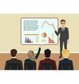 Young businessman giving presentation vector image