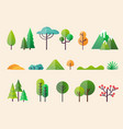 abstract forest plants and trees forest landscapes vector image