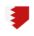 bahrain flag in on white background vector image vector image