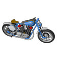 blue and grey vintage motorcycle on white vector image