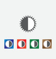 brightness icons vector image vector image