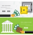 Business concept for online internet banking vector image