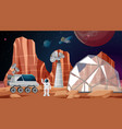 camp in space scene vector image vector image