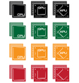 collection of microprocessors vector image vector image