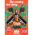 Color vintage vape e-cigarette poster vector image