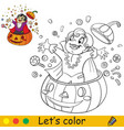 coloring with template halloween vampire jumps vector image