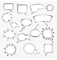 Comic speech bubble set vector image